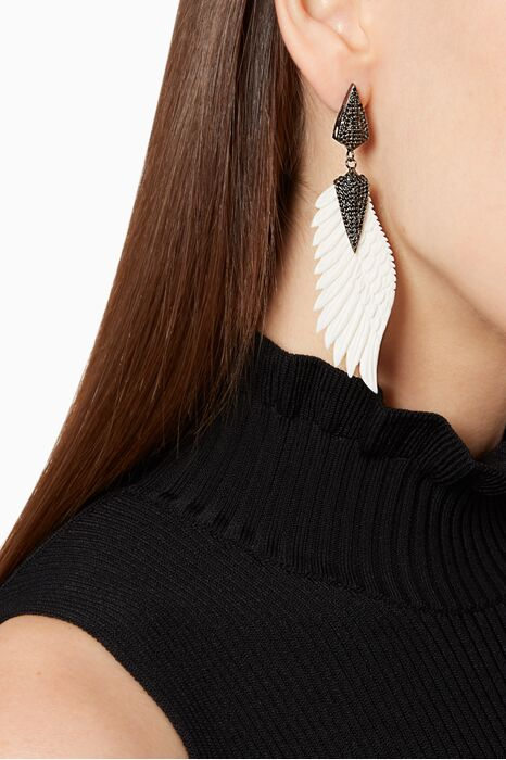 Off-White Bone Wing Earring