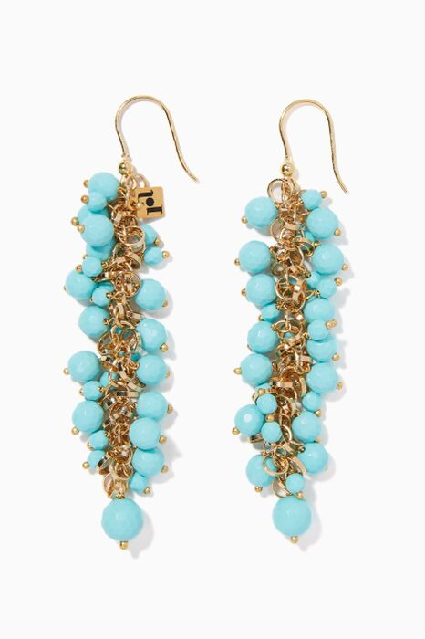Aqua Grappola Earrings