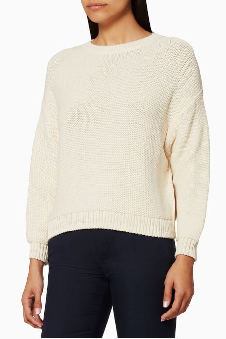 Light beige Drop Shoulder Sweater