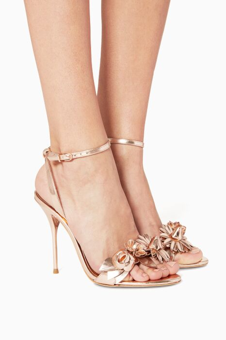Gold Lilico Leather Sandals