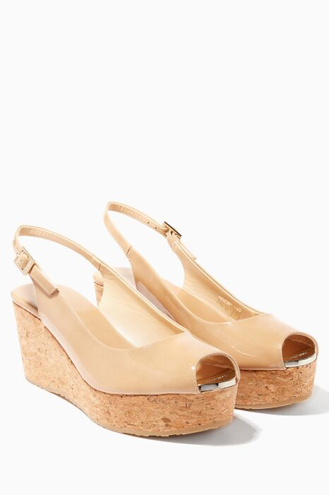 Natural Praise Patent Wedge Sandals
