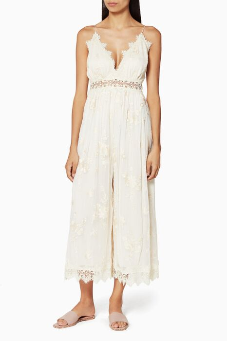 Ivory Tropicale Antique Jumpsuit