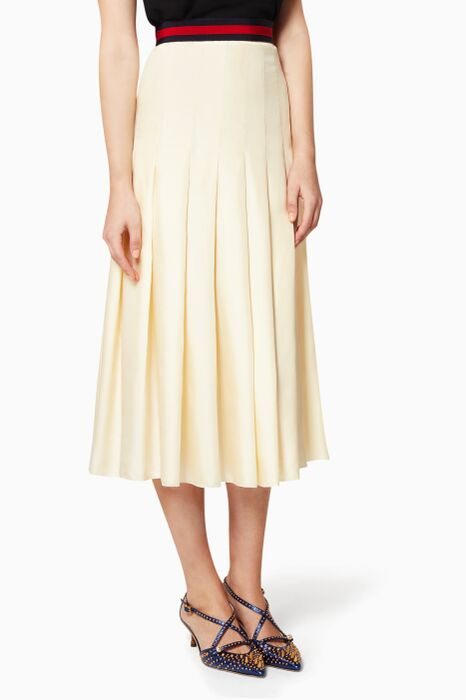Off-White House Web Pleated Skirt