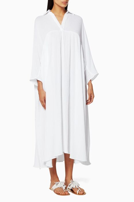 White Leo Kaftan Dress