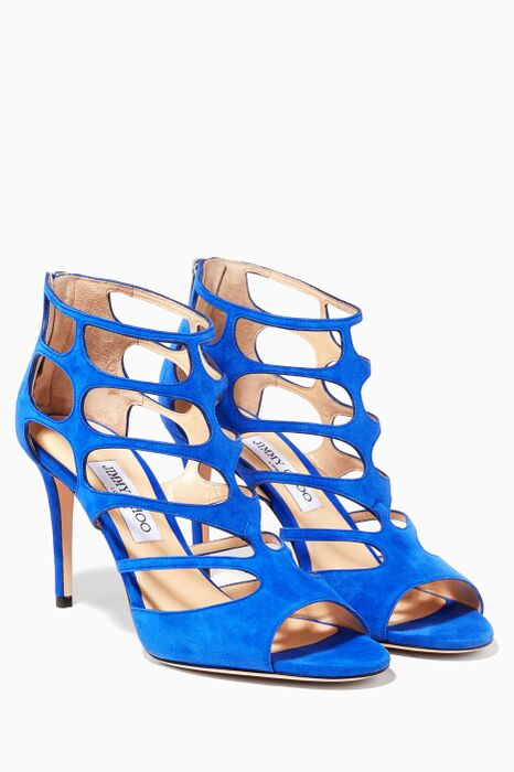 Blue Ren Suede Cage Sandals