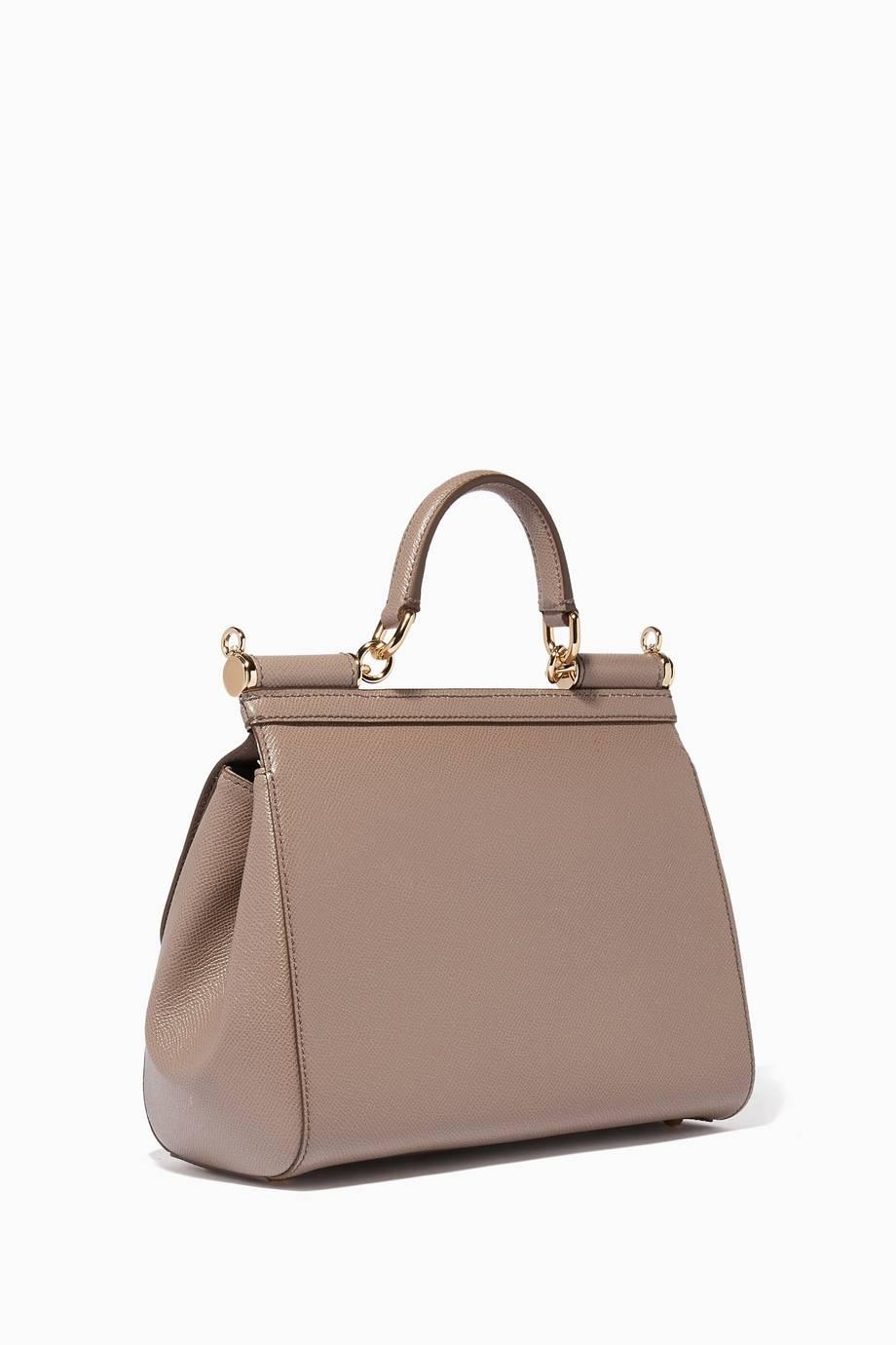 c946d32212 Shop Luxury Dolce   Gabbana Grey Medium Dauphine Leather Miss ...