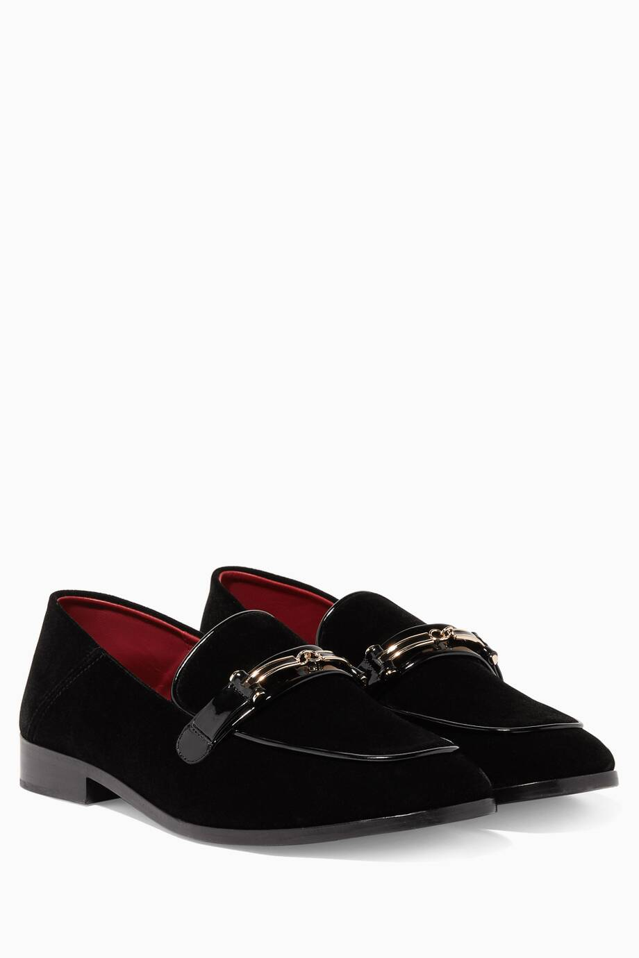 072907697bf Shop Luxury Newbark Black Melanie Velvet Loafers