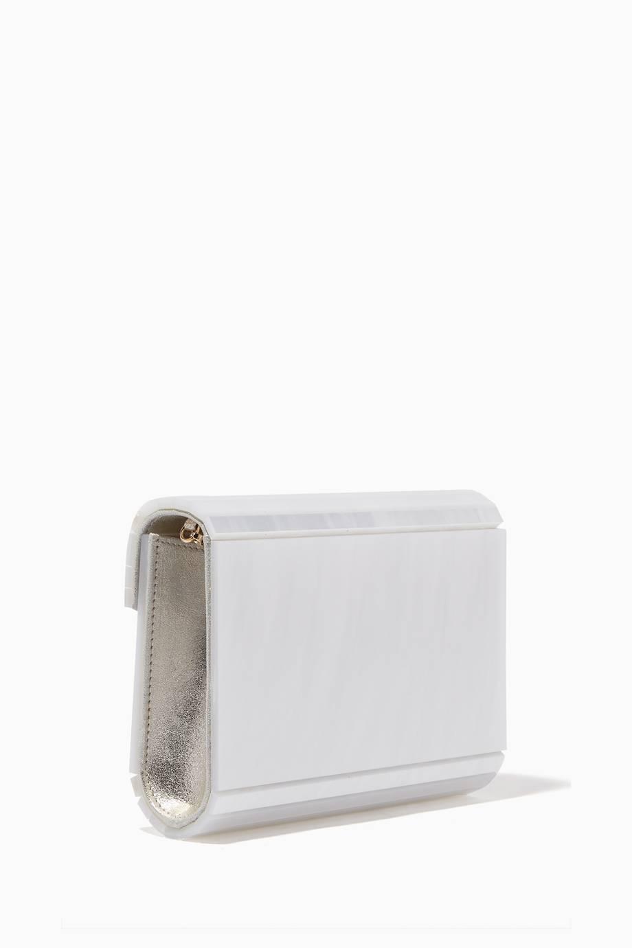 Shop Luxury Jimmy Choo Pearlised Candy Acrylic Clutch Bag  3237223809db1
